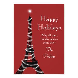 Tarjeta del día de fiesta de la torre Eiffel del Invitación 12,7 X 17,8 Cm