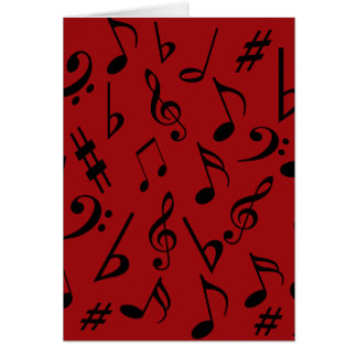Tarjeta del día de fiesta de las notas musicales -