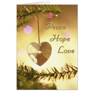 Tarjeta del día de fiesta del amor de la esperanza