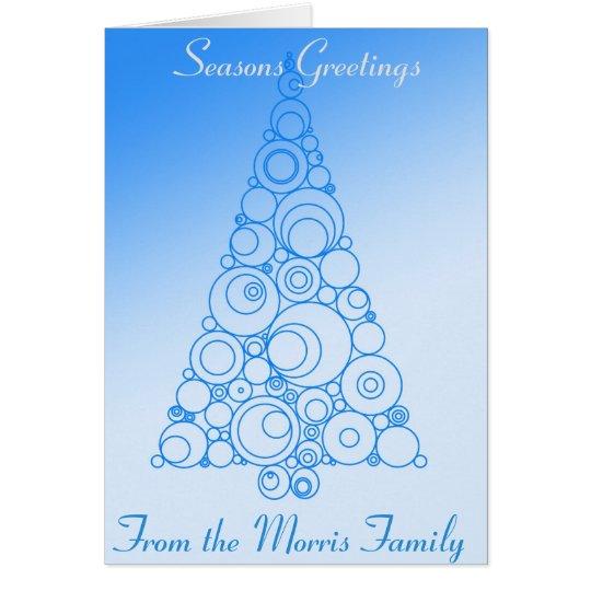 Tarjeta del día de fiesta del árbol de navidad en