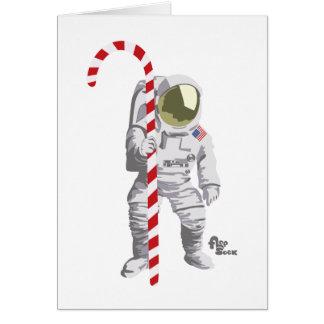 Tarjeta del día de fiesta del astronauta