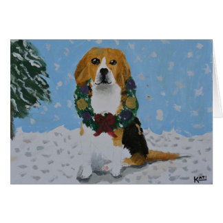 Tarjeta del día de fiesta del beagle