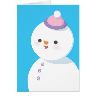 Tarjeta del día de fiesta del muñeco de nieve