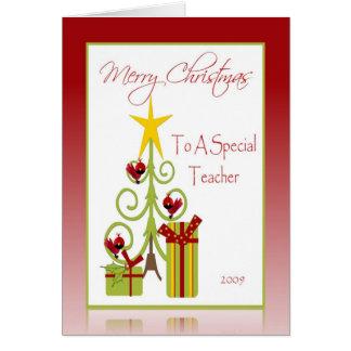 Tarjeta del día de fiesta del navidad para el prof