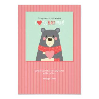 Tarjeta del día de fiesta del oso de la tarjeta