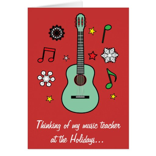 Tarjeta del día de fiesta del profesor de música
