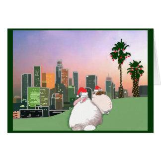 Tarjeta del día de fiesta del rescate del conejo -
