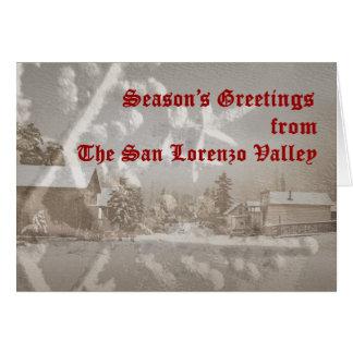 Tarjeta del día de fiesta del valle de San Lorenzo