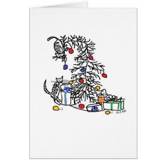 Tarjeta del día de fiesta - gatitos contra el