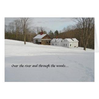 Tarjeta del día de fiesta - invierno en el país