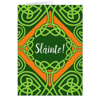 Tarjeta del día de Knotwork Sláinte St Patrick del