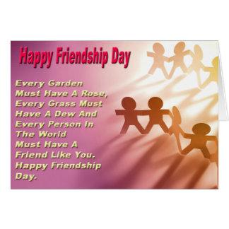 Tarjeta del día de la amistad