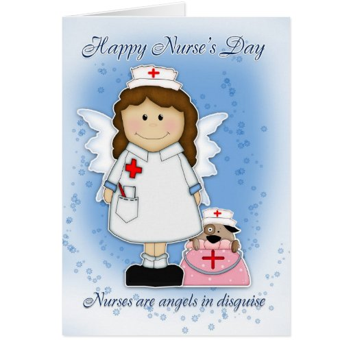 Tarjeta del día de la enfermera - ángeles en disfr | Zazzle