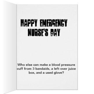 Tarjeta del día de la enfermera de la emergencia