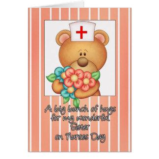 Tarjeta del día de la enfermera de la hermana con