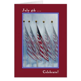 Tarjeta del Día de la Independencia con cinco