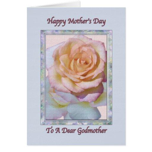 Tarjeta del día de la madre de la madrina