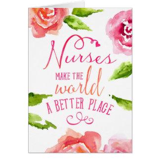 Tarjeta del día de las enfermeras - aforismo
