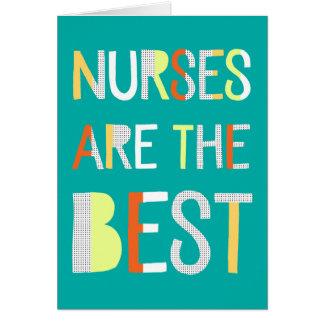 Tarjeta del día de las enfermeras - diseño del