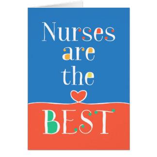 Tarjeta del día de las enfermeras - enfermeras es