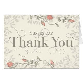 Tarjeta del día de las enfermeras - gracias en el