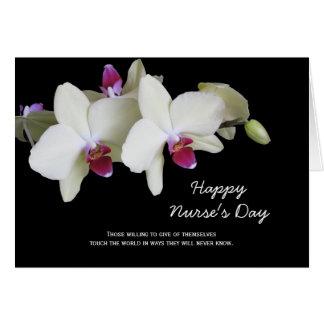 Tarjeta del día de las enfermeras -- Orquídeas