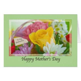 Tarjeta del día de las madres de la madrina con la