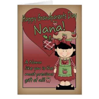 Tarjeta del día de los abuelos de Nana - pequeña