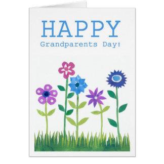 Tarjeta del día de los abuelos - flower power