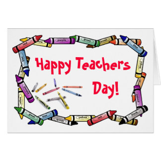 Tarjeta del día de los profesores