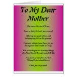 Tarjeta del día de madre