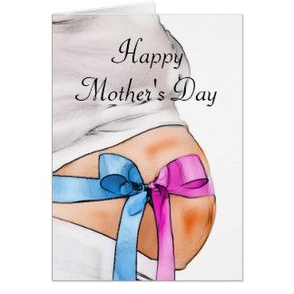 Tarjeta del día de madre de la mujer embarazada
