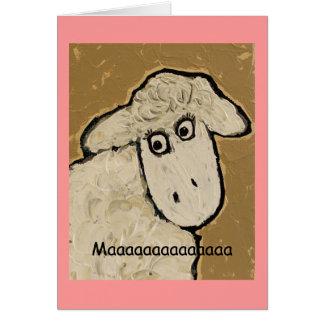 Tarjeta del día de madre de las ovejas de