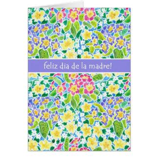 Tarjeta del día de madre de las primaveras, saludo