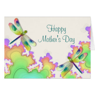 Tarjeta del día de madre de los fractales de la