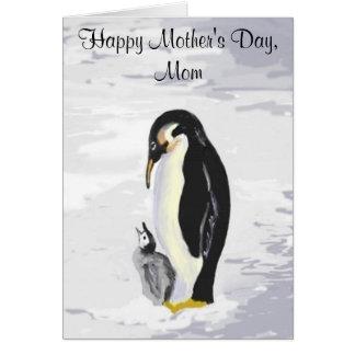 Tarjeta del día de madre de Peguin