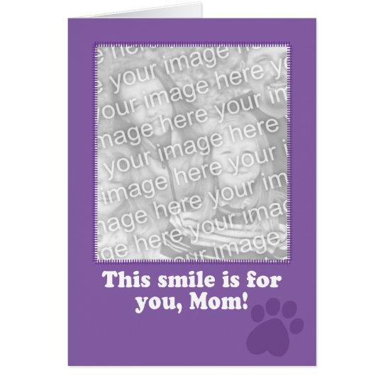 Tarjeta del día de madre de su tarjeta de la foto