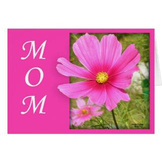 Tarjeta del día de madre del cosmos (ampliación de