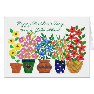 Tarjeta del día de madre del flower power para una