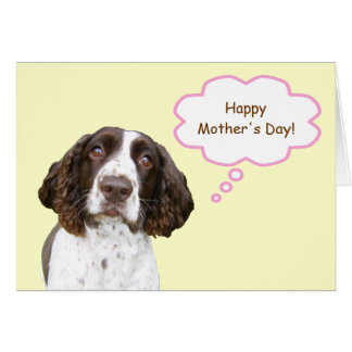Tarjeta del día de madre del perro de aguas de