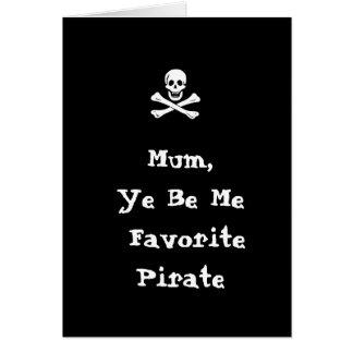 Tarjeta del día de madre del pirata