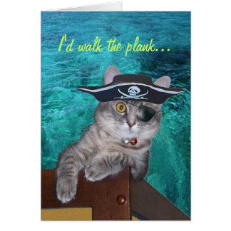 Tarjeta del día de madre del pirata de Xena - modi