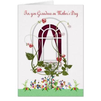Tarjeta del día de madre - flores de la abuela