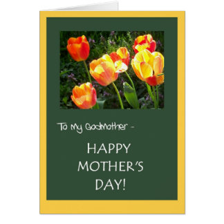 Tarjeta del día de madre para la madrina -