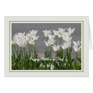 Tarjeta del día de madre para los ex tulipanes del