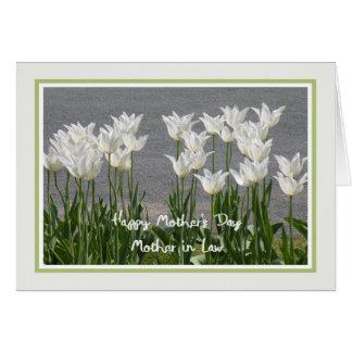 Tarjeta del día de madre para los tulipanes del