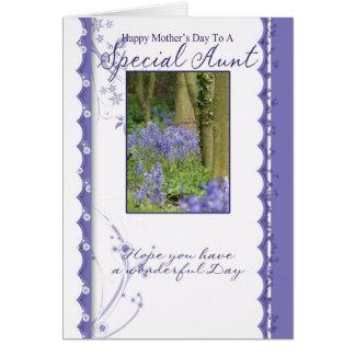 Tarjeta del día de madre, tía especial