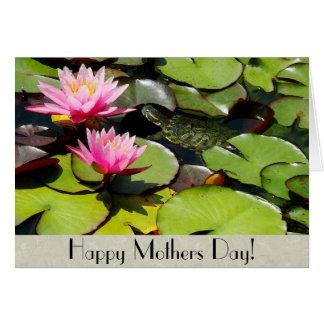 Tarjeta del día de madres de la tortuga de