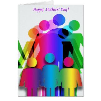 Tarjeta del día de madres para las familias con