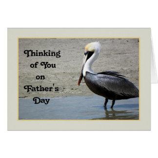 Tarjeta del día de padre con un pájaro del